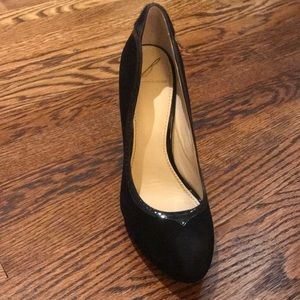 B Brian Atwood suede pump.